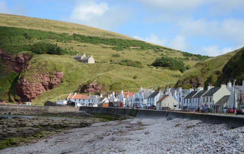 Pennan Scotland in the summer