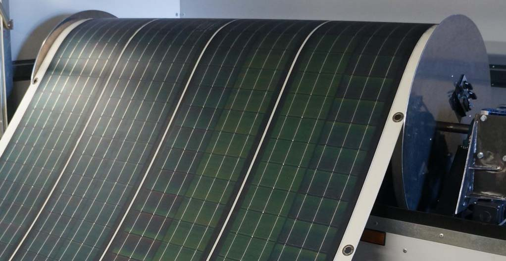 Roll out solar panel invented by Renovagen