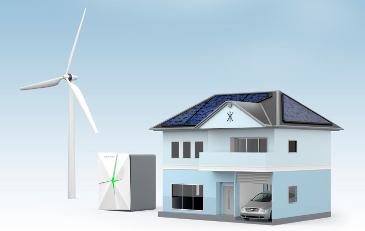 Solar and wind turbine energy storage