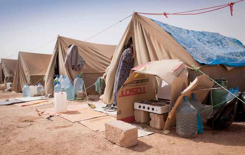 Refugee tents of IDP camp in Irag