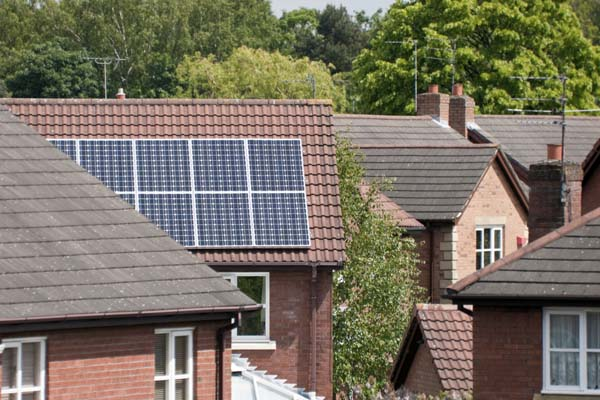Solar pv on a domestic home roof