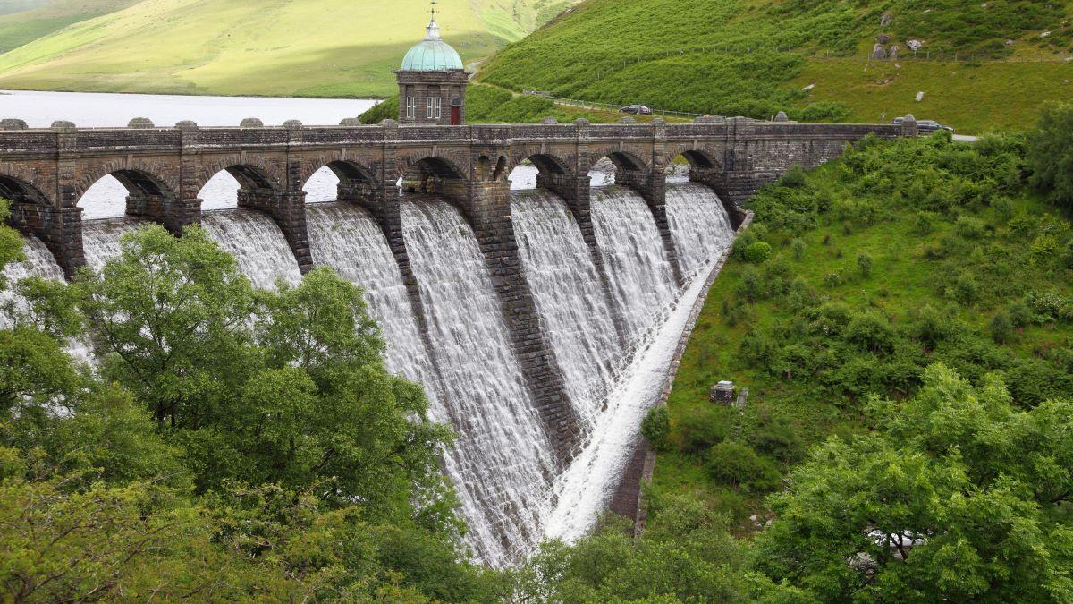 hydropower dam at elen valley, Wales