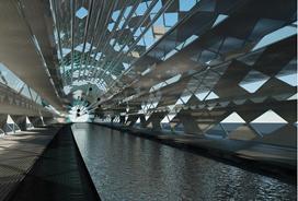 Desalination, energy and art installation- Photo credit : http://www.telesurtv.net/