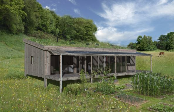 One Planet Monopitch Home - Courtesy of Mark Waghorn Architects Ltd