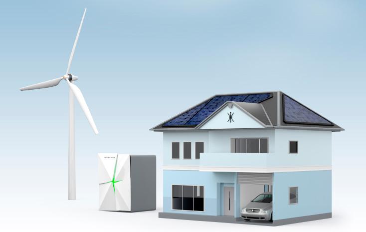 Solar and wind turbine energy storage