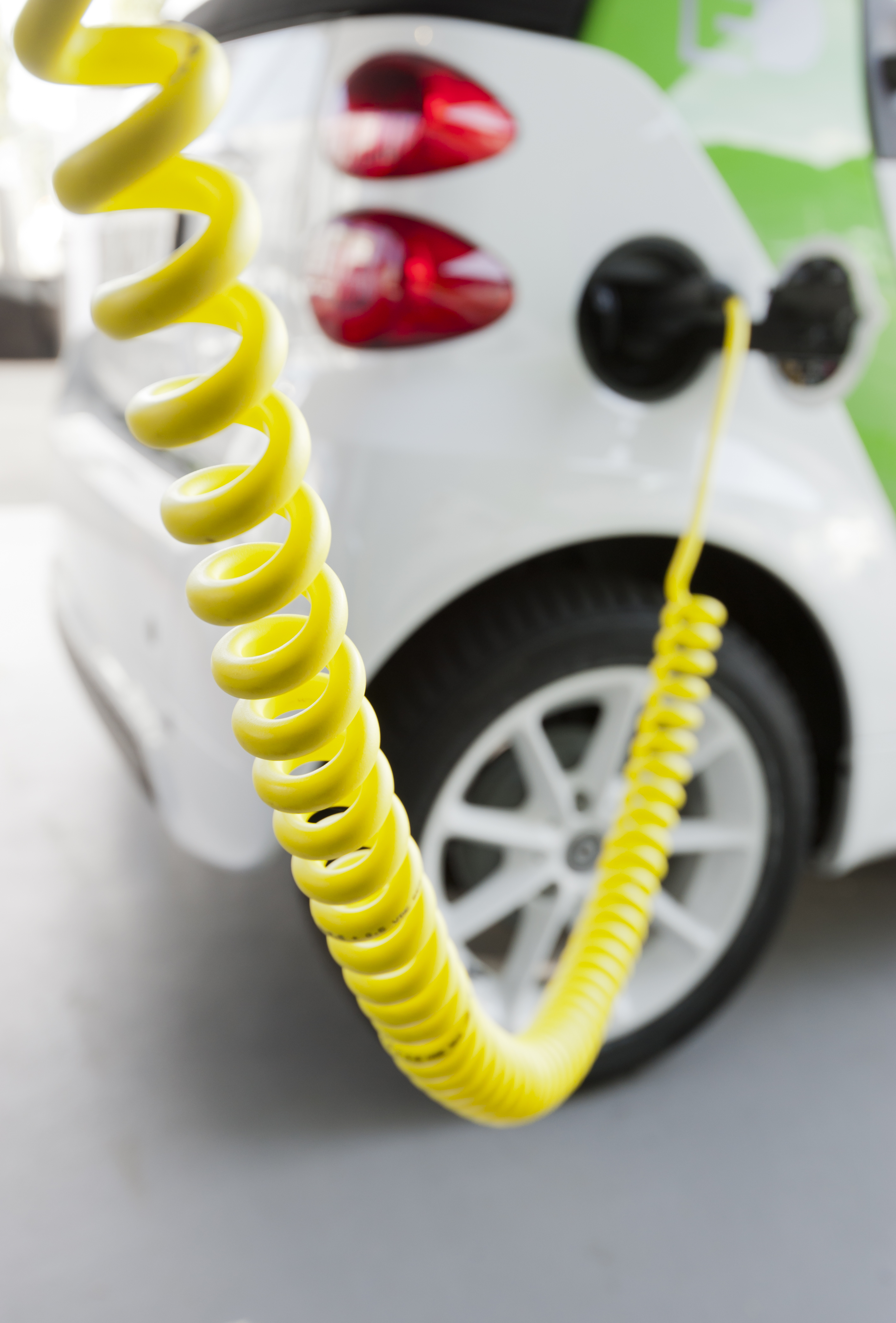 charging electric car with it's charger