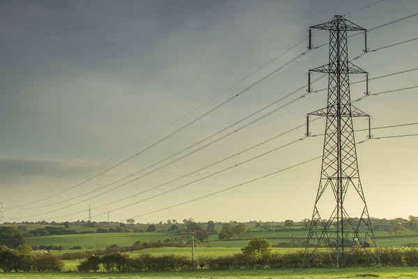 Electricity pylon in the UK