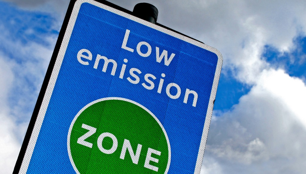 Low emission zone in London