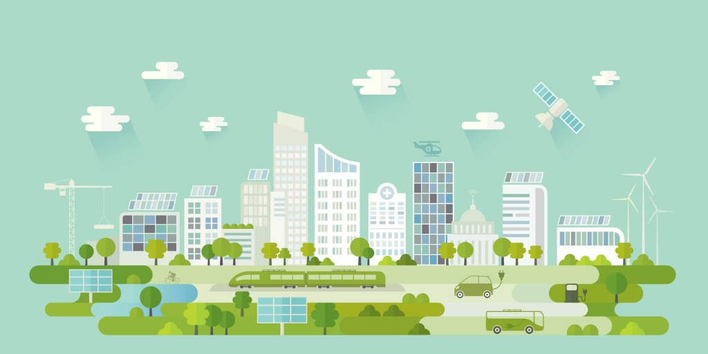 image of a smart sustainable city