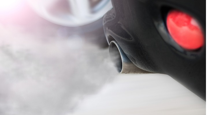 Car pipe exhaust smoke and fumes